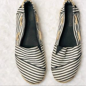 Nautical Striped Espadrilles Size 6.5